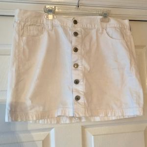 Old Navy White Denim Skirt
